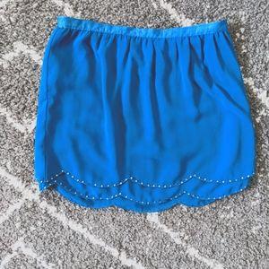 ⚡3/$20⚡Gorgeous beaded scalloped skirt sz:26